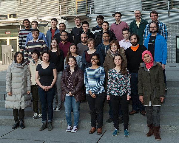 Members of the Databases and Information Systems Group at Max Planck Institute for Informatics in February 2017